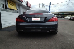 2012 Mercedes SLK - Radar & Laser Shifter Install - Rear Laser Shifter Installed Above License Plate