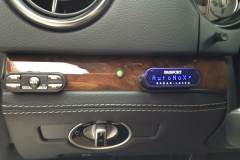 2012 Mercedes SLK - Radar & Laser Shifter Install - Control Unit and Display Installed on Woodgrain Panel