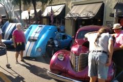 Plenty of vintage vehicles.