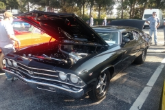 Dennis Doyle's mean chopped top pro charger fed Chevelle. This car is a BEAST!!