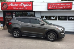 2014 Santa Fe with OEM replica running boards