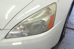 Headlight restoration - drivers side lens before