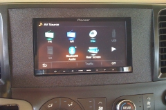 2011 Sienna - custom fabricated dash kit with Pioneer navigation system installed