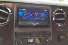 Ford Super Duty - navigation system installation