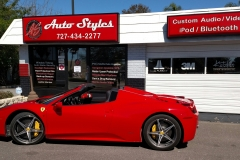 Ferrari 458 - installed custom dash cam surveillance system
