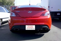 Hyundai Genesis - back-up sensors