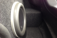 Infiniti G37 - close-up of subwoofer in trunk