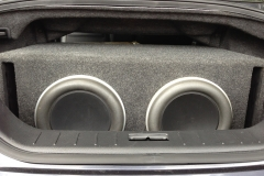 Infiniti G37 - subwoofers installed in the trunk