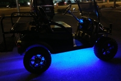 Golf cart - with underbody LED lighting