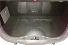 VW Beetle - amp and sub installed in the trunk