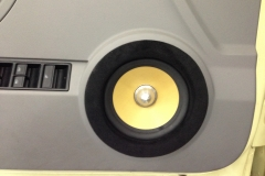 VW Beetle - door speaker close-up