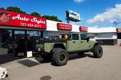 "2015 Custom Jeep Wrangler with Alpine 9"" navigation radio installed"