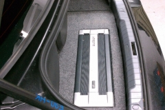 BMW 3 Series - flush mounted Audison amp in trunk