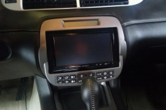 Chevrolet Camaro dash with aftermarket Kenwood Excelon navigation head unit