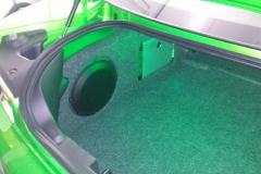 Chevy Camaro - custom subwoofer/amplifier rack with LED accent lighting