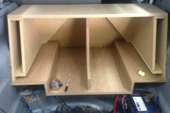 2007 Dodge Magnum - custom ported enclosure for 2 JL Audio 12W7s - under construction
