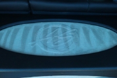 Hyundai Tucson with suede logo in trunk