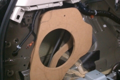 Infiniti QX56 - template for trunk subwoofer