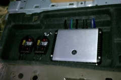 Infiniti QX56 - amp installed in trunk