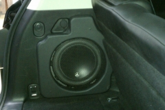 QX56 - sub enclosure completed in trunk