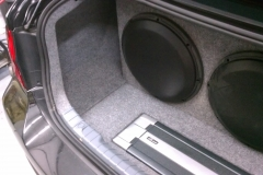 BMW 3 Series - sub and amp installed in trunk