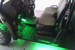 John Deere Gator - Green LED underbody lighting and custom sound system