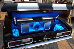 1968 Camaro - JL Audio HD600/4 - HD 750/1 - 12W6v3 Sub - twin blue top batteries - custom sub enclosure and panels