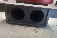 Subaru Brat custom sub enclosure with Line-X coating