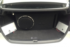 Lexus - amp and subwoofer custom installation