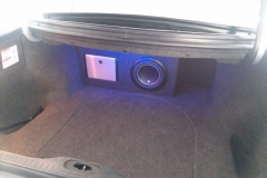 Lincoln Continental - sub & amp installation in trunk