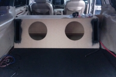 2000 Lincoln Navigator - custom subwoofer enclosure being built