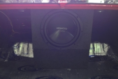 1972 Oldsmobile Cutlass subwoofer in custom enclosure