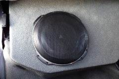 Dodge Ram Quad Cab - 1 JL Audio 10TW3 fiberglass subwoofer enclosure - finished