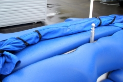 Jet Boat reupholstery - rear bimini top