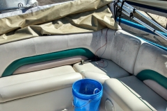 Pontoon boat reupholstery - before