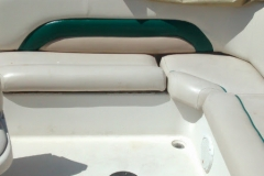 Pontoon boat reupholstery - after