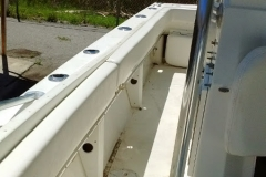 37 foot Donzi rub rail - after