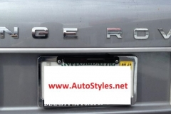 2012 Range Rover Custom Radar Installation - Rear Laser Shifter Mounted Above License Plate