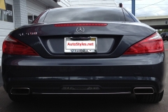 2012 Mercedes SLK - Radar & Laser Shifter Install - Rear Laser Shifter Installed Above License Plate