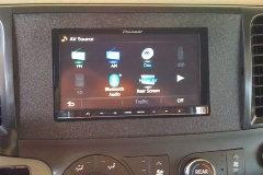 Toyota Sienna with Pioneer navigation system in custom dash