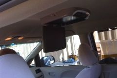 Toyota Sienna - overhead DVD player installed