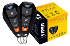 Viper Entry Level 1-Way Security and Remote Start System: Start your engine from up to a quarter mile away with this entry level 1-way Viper remote start + security system. This system comes with two 4-button remotes and several features, such as keyless entry and SmartStart compatibility.