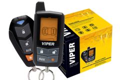 Viper Entry Level LCD 2-Way security and start system: Start your engine from up to a quarter mile away with this entry level 2-way Viper remote start + security system. This system comes with a 4-button LCD remote and several features, such as keyless entry and SmartStart compatibility.