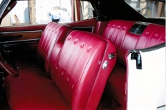 1965 Cadillac full reupholstery - front and back seat finished