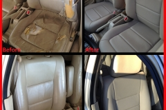 1992 Honda Accord before & after Katzkin leather reupholstery