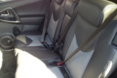 2011 Toyota RAV4 two toned leather back seat