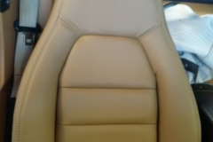 Mazda Miata seat after reupholstery