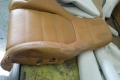 Mazda Miata seat before reupholstery