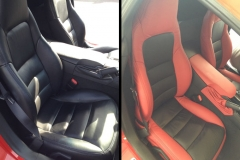 Corvette - before & after Katzkin leather interior