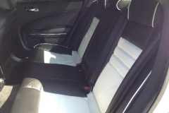 Dodge Charger two toned leather - back seat